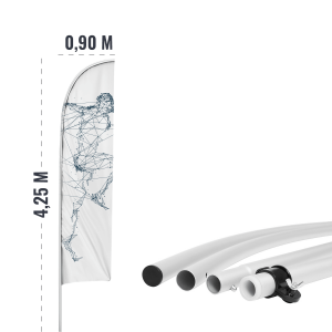 Maszt flagowy aluminiowy - do beachflag - AxOx Media