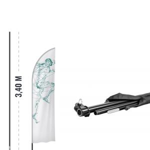 Maszt reklamowy z włókna szklanego 3,4 m - AxOx Media - axox.eu