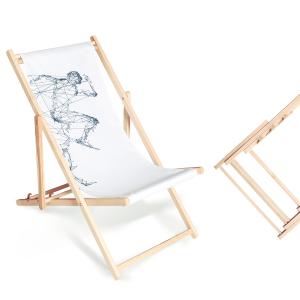 Leżak reklamowy - drewniany stelaż - AxOx Media