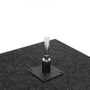 Hartgummi Bodenplatte für Beachflags 50x50cm 10kg