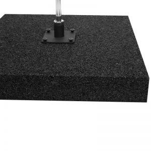 Hartgummi Bodenplatte für Beachflags 50x50cm 15kg